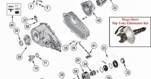 New Process NP231 Transfer Case Parts Exploded View Diagram New Process NP231 Transfer Case