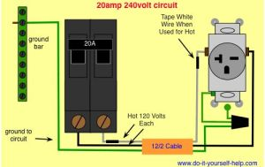 wiring diagram 20 amp 240 volt circuit | shop wiring | Pinterest