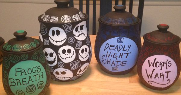 Tim Burton Inspired Canisters I Made Nightmare Before