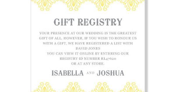 Honeymoon Registry Wording Gift Registry Pollyanna