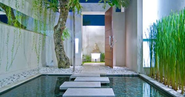 villa entrance water feature bali style home garden on extraordinary garden path and walkway design ideas and remodel two main keys id=72304