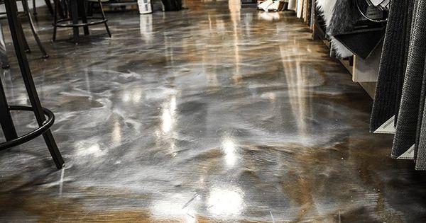 Bronze And Silver Metallic Epoxy Floor Wannabe My Home
