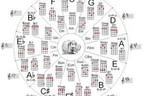 Notes On Guitar Fretboard Chart | than a chord chart is a circle of 5ths chart | music