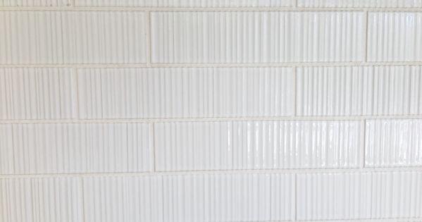 Ann Sacks Tile Savoy Ribbed In White Textileswallpapertilefloors Pinterest Sacks In