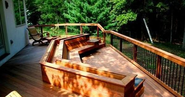 Decks With Benches And Planters