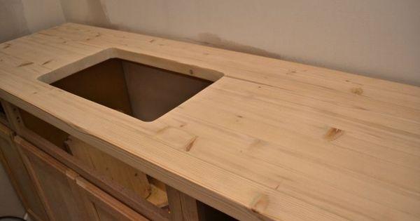 DIY Butcherblock Style Countertop With Undermount Sink