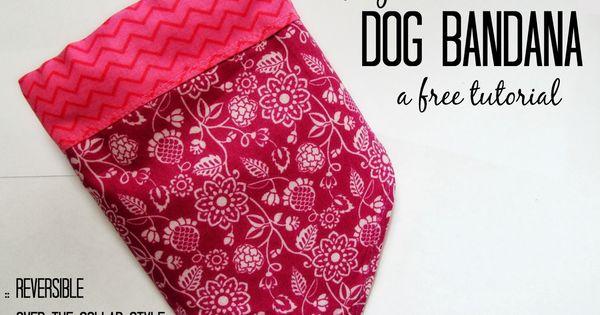 Daydream Believers DIY Over The Collar Dog Bandana A