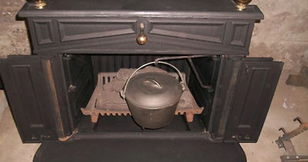 Sears Wood Stove SEARS FRANKLIN ANTIQUE CAST IRON WOOD