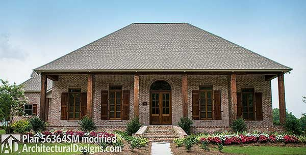 Plan 56364SM 3 Bedroom Acadian Home Plan House Plans Bonus Rooms And Bath