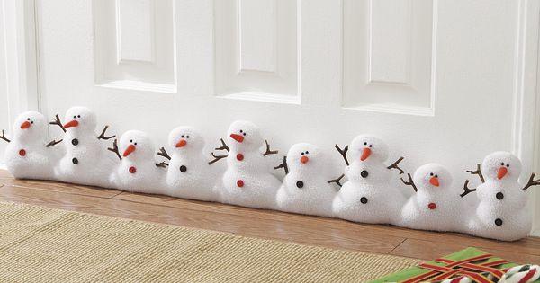 Lil Snowmen Wreaths Pinterest Draft Stopper And Snowman
