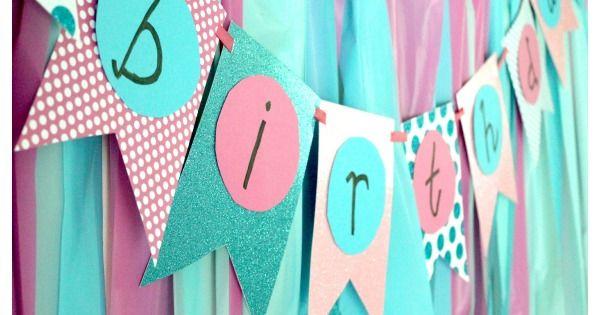 Simple DIY Birthday Banner Tutorial DIY Birthday Diy