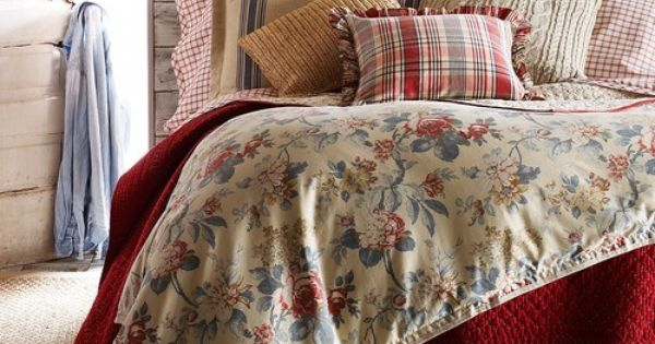Ralph Lauren LAKE HOUSE FLORAL 10 Pc Queen Comforter