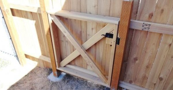 How to Build a Homestead Wooden Fence Gate Homesteading ... on Unlevel Backyard Ideas id=18373