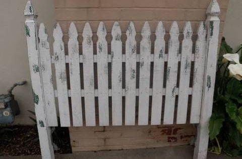 Fence Headboards Queen Picket Fence Headboard For 100