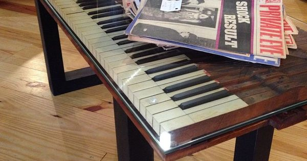 Cool Table Made From Old Piano Keyboard Project Ideas For Old Pianos Pinterest Pianos