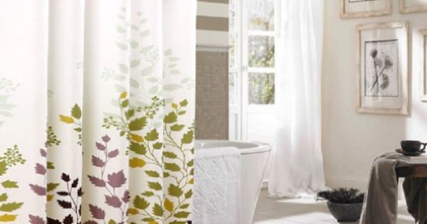 Hookless Extra Long Shower Curtain Tree Leaves Shower Curtain 40 Wide X 80 Long Inchs Green