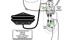 Tele Wiring Diagram  1 Humbucker, 1 Single Coil with push