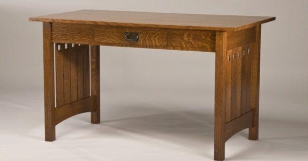 Quarter Sawn White Oak Mission Style Desk Furniture