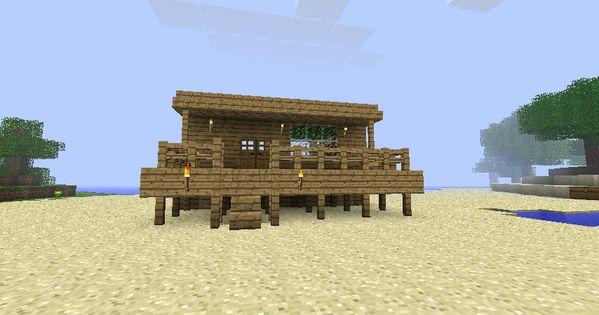 Beach House Minecraft Minecraft Pinterest Beach