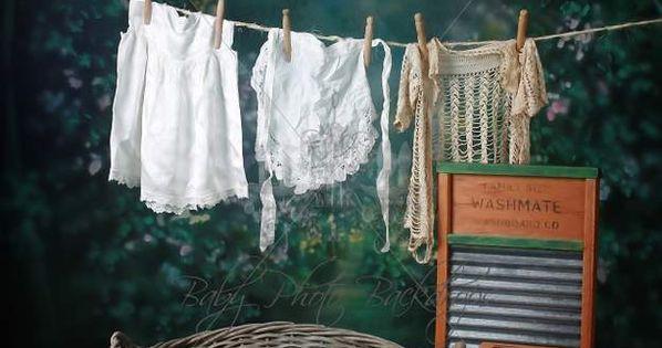 Girl Laundry Basket Digital Backdrop Amp Layered Background