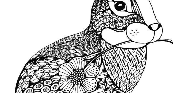 Der Plschige Hase Im Tangle Design Und Dazu Der