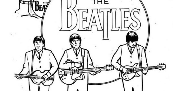 the beatles coloring printable  google search  coloring
