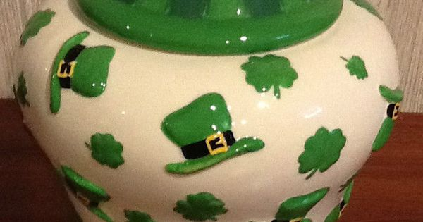 St Patricks Day Cookie Jar By Cheryl Amp Co Cheryl Amp Co