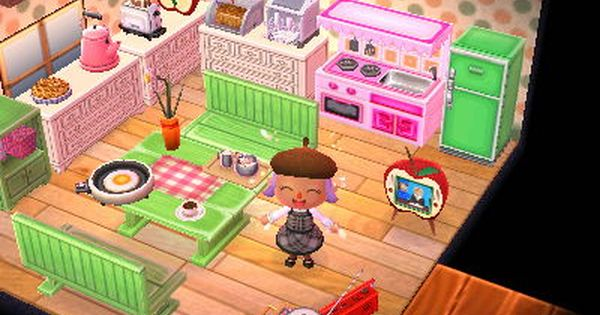 Pink Green Kitchen Acnl Animal Crossing
