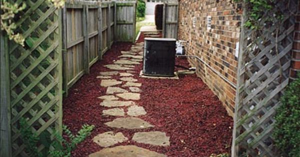 Rubber Mulch Amp Stone Walkway Gardening And Outdoor
