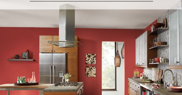 BEHR Paint In Raging Bull Red Creates A Spicy Backdrop To