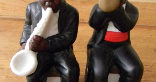 African BLACK AMERICANA Salt And Pepper Shakers New