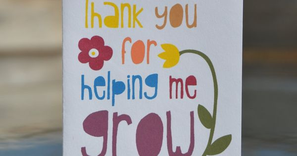 Stampin Up Thank You For Helping Me Grow Teacher Or