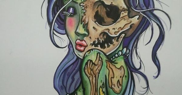 Day Of The Dead Pin Up Girl Cover Up Tattoo
