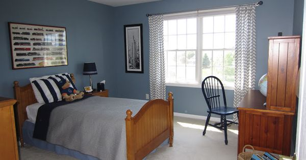 Blue Walls In Boys Bedroom Paint Color Amsterdam By