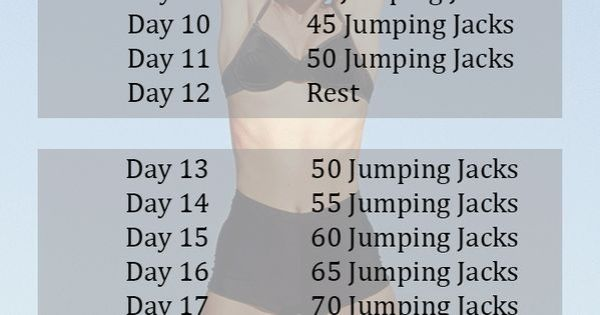 30 Day Jumping Jacks Challenge That Works Focus Fitness