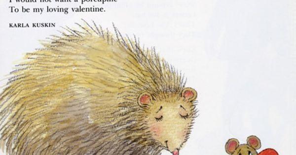 Poem Porcupine Poetry Pinterest Valentines
