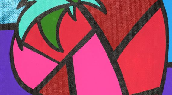 Strawberry Cubism Art Picasso Strawberry 8x10 By
