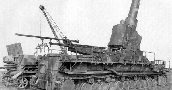 A Karl-Gerat siege gun with it's Pamzer 4 munition ...