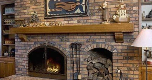 Fireplace With Wood Box FIREPLACES Raised Hearth Brick