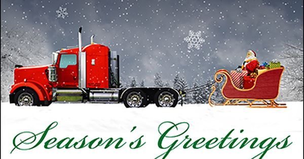 Reindeer Truck Christmas Card Glossy White 1932 Cards