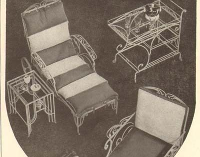 Wrought Iron Patio Furniture 1940s Ad From Hammacher