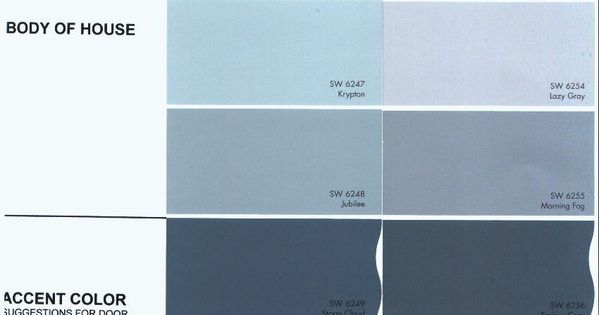 Sherwin Williams Morning Fog Exterior Color Of House