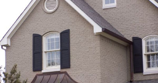Putty Black And White Exterior Paint Schemes