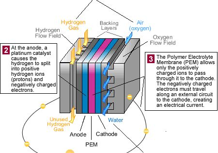 Diagram: How A PEM Fuel Cell Works. 1. Hydrogen Fuel Is