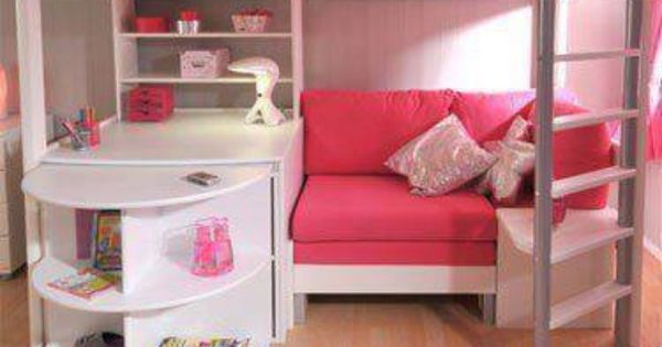 Loft Bed With Desk Shelves And Seating Area I Wish I