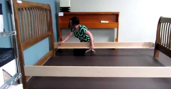 Replacement Wood Bed Rails Product Demonstrations Bed