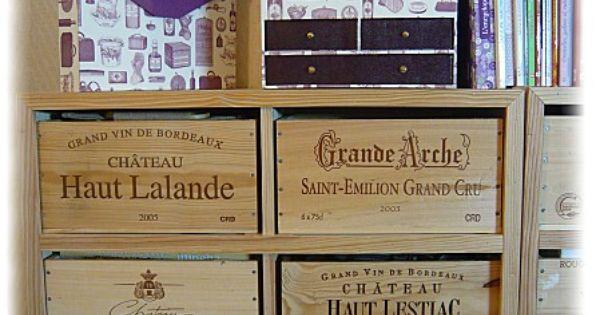 Recyclage Caisses De Vin Bricolage Pinterest