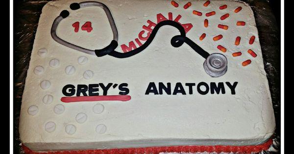 Greys Anatomy Birthday Cake Cakes Cupcakes And Cookies Pinterest Grays Anatomy Anatomy