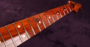Exotic wood Musikraft finish StratTele Neck | Strat Guitar DIY Upgrades | Pinterest | Woods and