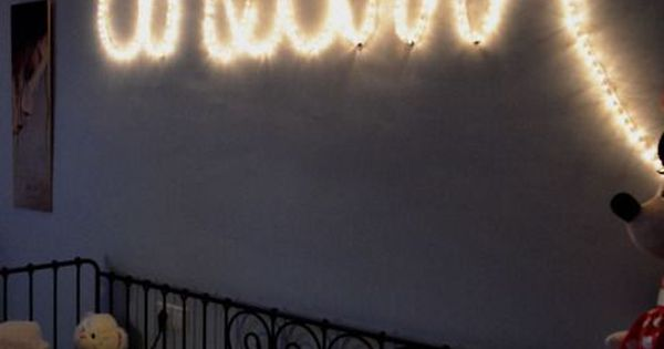 Spell Out Words With String Lights Bedroom Ideas